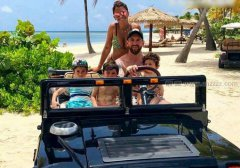 梅西和家人在一起的快乐时光